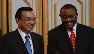 Chinese Premier Li Keqiang & Ethiopian Premier Hailemariam Desalegn. Elias Asmare/AP/Press Association. All rights reserved.