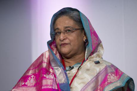 Prime Minister of Bangladesh Sheikh Hasina in 2014.