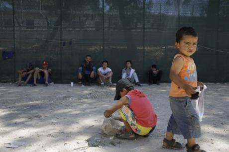 Moria camp on Lesvos, June 17, 2015.