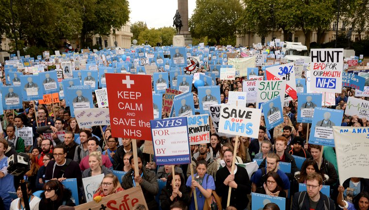 Save the NHS rally, London, October 2015