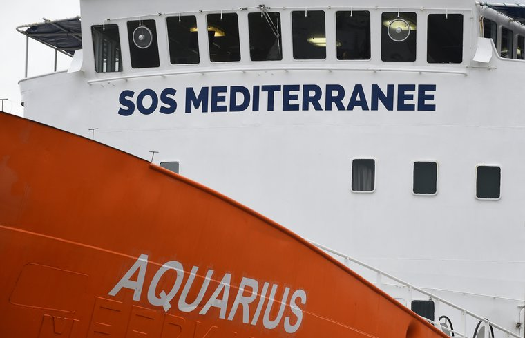 MS 'Aquarius' deployed in rescue mission could take up to 500 refugees, February 2016.