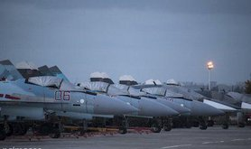 Russian fighter jets and bombers, Hemeimeem air base. Pavel Golovkin/AP/Press Association Images. All rights reserved.