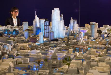 500th scale architectural model of central London at the City Centre gallery, May 2016.
