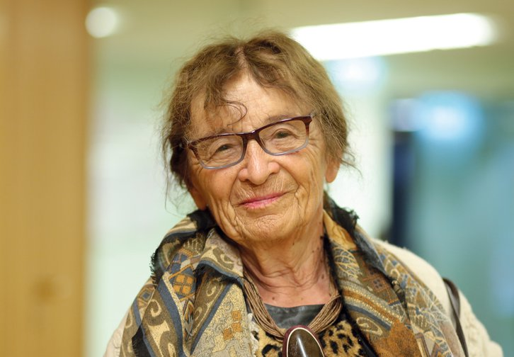 Agnes Heller at the Philosophy Festival in Cologne, Germany, May 2016.