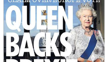 Front page of The Sun newspaper in March. The 'Queen backs Brexit' headline was inaccurate, the Independent Press Standards Orga
