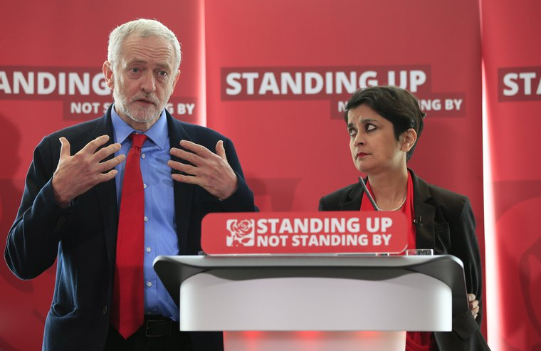 Jeremy Corbyn and Shami Chakrabarti answers questions on Labour's anti-Semitism inquiry findings, June 30, 2016.