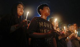 Tribute to victims of the 2016 Dhaka attack. AP/Press Association Images. All rights reserved.
