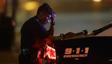 Dallas police officer. LM Otero/AP/Press Association Images. All rights reserved.
