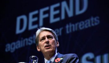 The chancellor at the launch of a new security initiative. Picture by Chris Radburn PA Wire/PA Images