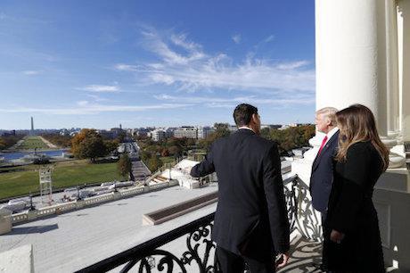 Paul Ryan, Donald Trump and Melania Trump. Alex Brandon/AP/Press Association Images. All rights reserved.