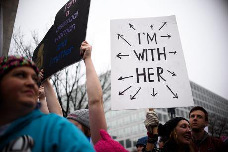 Sign at the Women's March.