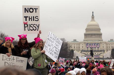 Women's March, Washington. Lafargue Damien/ABACA ABACA/PA Images. All rights reserved.