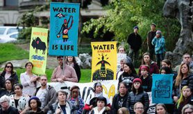 """Protesters at """"Native Nations Rise"""" march on Washington, D.C."""