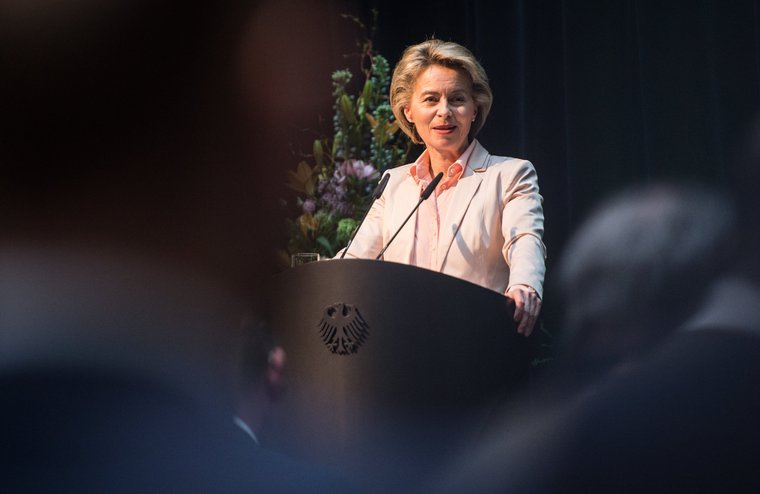 Ursula von der Leyen at the 'Security, peace and development in Africa' conference in Berlin,  March 2017.
