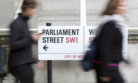 A sign for Parliament Street, central London.