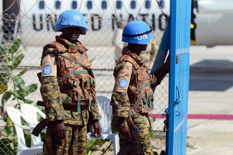 UN peacekeepers in Somalia.