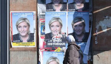 Marine Le Pen election campaign posters, France 2017.