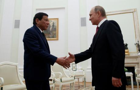 Duterte and Russian President Putin.