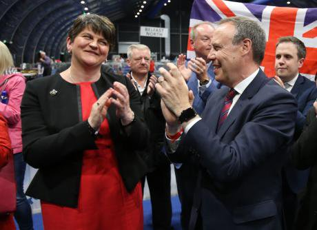 DUP leader Arlene Foster and deputy leader Nigel Dodds.