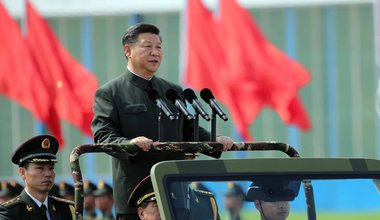 Chinese President Xi Jinping inspects the Chinese People's Liberation Army