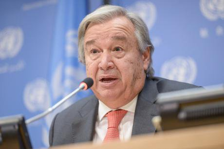 Guterres at a press conference in New York.