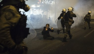 Student riot Greece