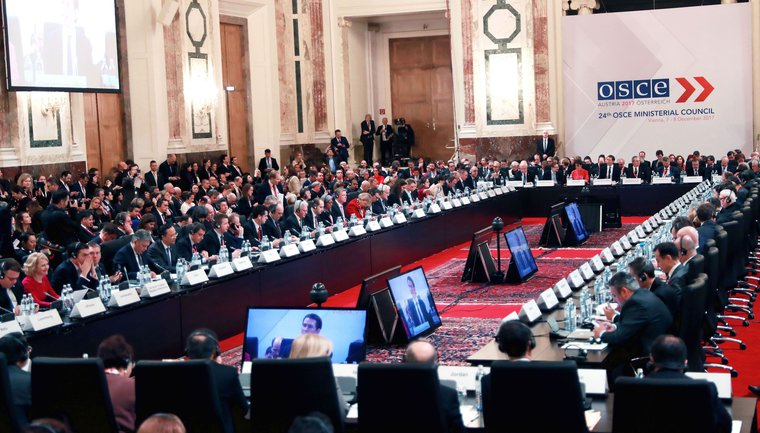 24th Ministerial Council of the OSCE in Vienna, Austria, December 2017.