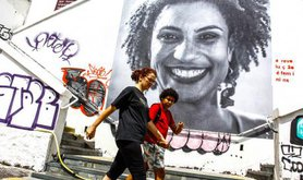 Mural of Marielle Franco.