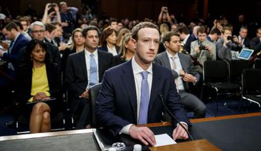Facebook CEO Mark Zuckerberg testifying at a joint hearing of the Senate Judiciary and Commerce committee earlier this year.
