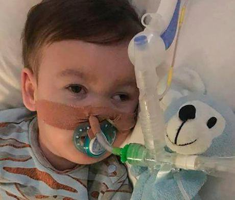 Alfie Evans in Alder Hey Children's Hospital, Liverpool.