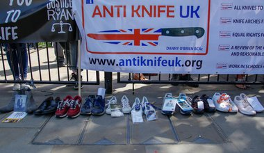 London anti-knife crime protest