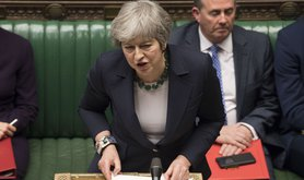May in parliament.