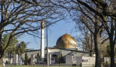 PA image of mosque, Christchurch.