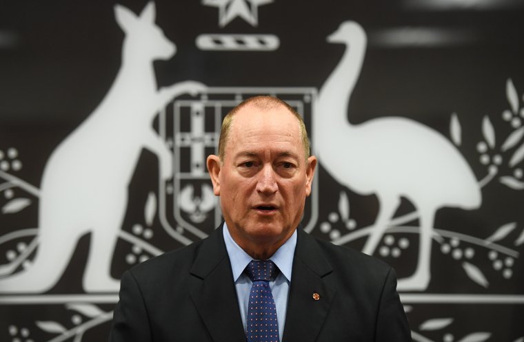 Senator Fraser Anning in a press conference in Brisbane, Monday, March 18, 2019.