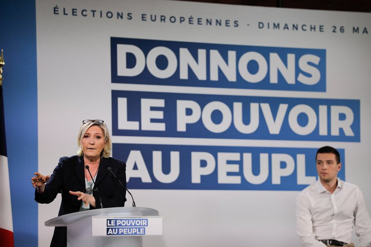 National on the 2019 European election campaign, March 2019 in Buzet-sur-Baise, France.