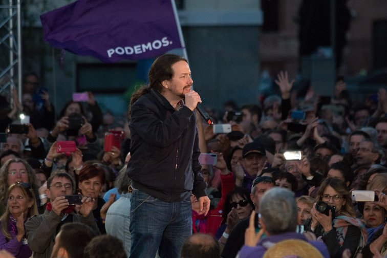 Pablo Iglesias in March 2019 election campaign.