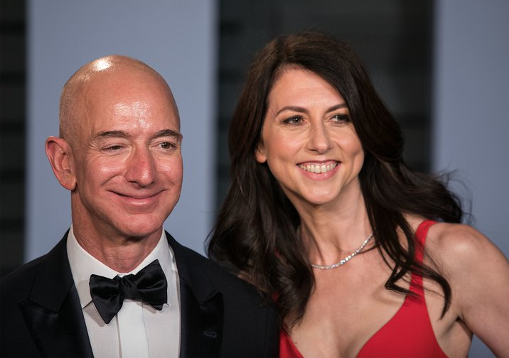 MacKenzie Bezos tweets that her 26 year marriage to Jeff Bezos has been formally dissolved as of April 4, 2019, with her keeping 25% of Amazon stock, about $35 billion, California, USA.