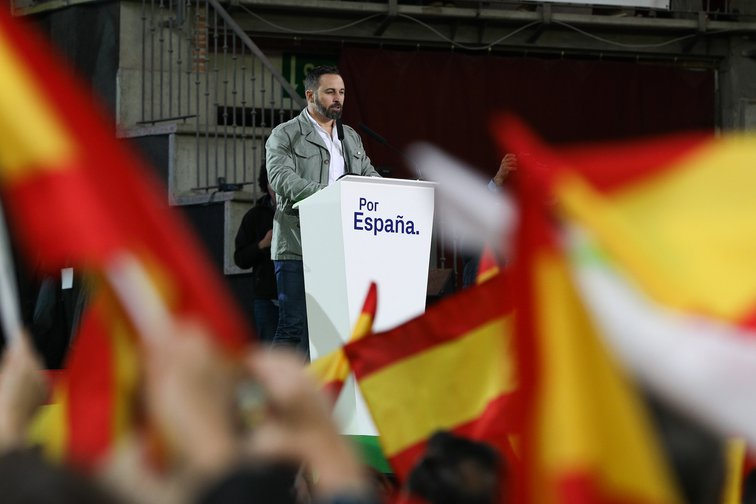 Santiago Abascal presents the VOX election candidates in Madrid, April 6, 2019.