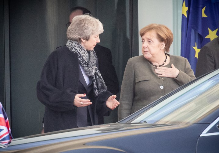 Merkel receives May, April 9, 2019.