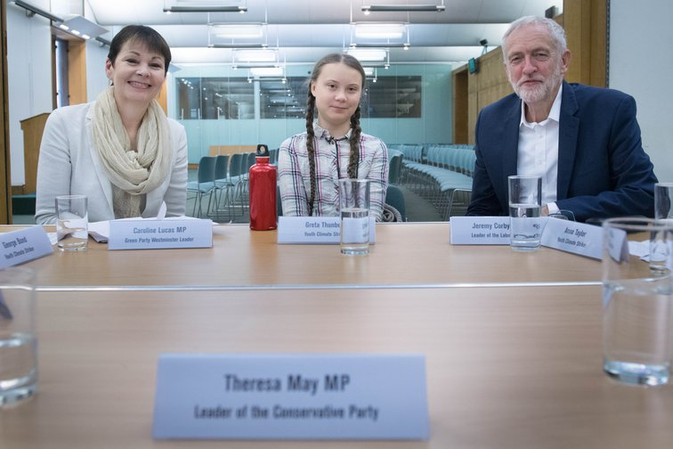 Extinction Rebellion protests: Greta Thunberg meets UK party leaders, April 23, 2019.