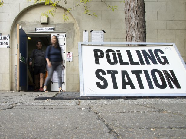 Polling station in the UK