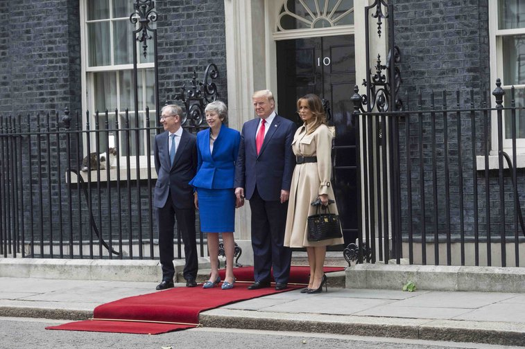 May rolls out the red carpet for Trump, 10 Downing Street. June 5, 2019.