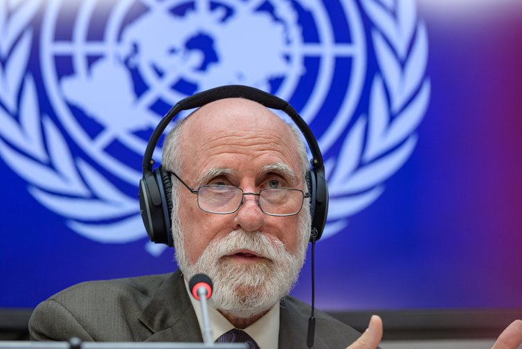 Vint Cerf, 'father of the internet' and founder of ISOC at UN HQ, June, 2019.