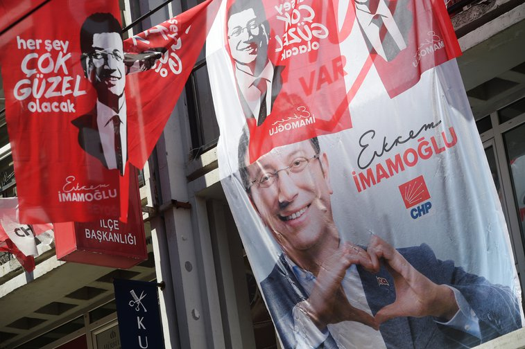 Mayoral election posters, Istanbul June 2019.