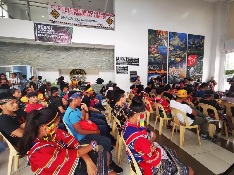 Indigenous people gathered for an action as part of the global climate strike at the University of the Philippines Diliman on September 20, 2019.