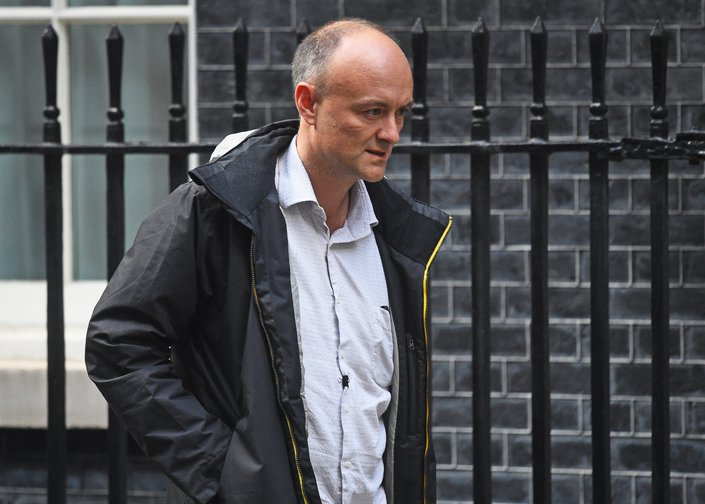 Dominic Cummings, senior aide to the Prime Minister, leaving Downing Street, September 2019