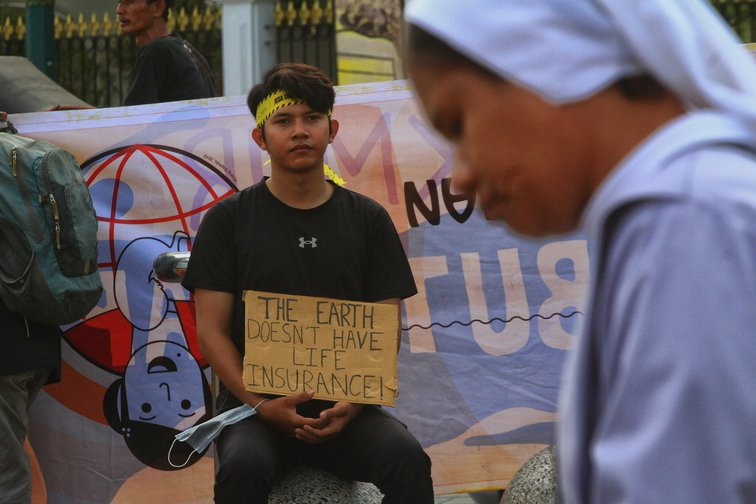 Indonesian climate change protest, September 2019.
