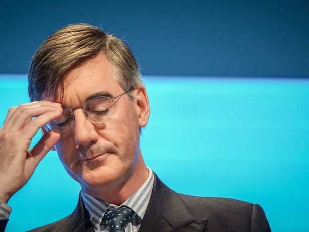 Jacob Rees-Mogg, Leader of the House of Commons, Lord President of the Council and MP for North East Somerset speaks at day one of the Conservative Party Conference in Manchester , England , 29 September 2019.