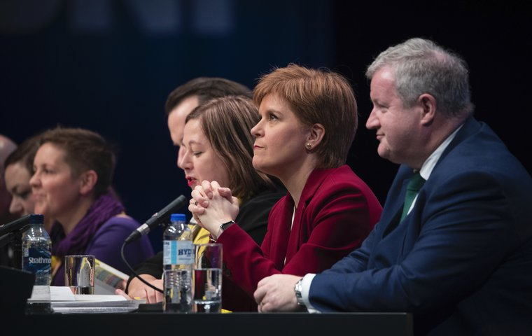 First Minister Nicola Sturgeon at the opening of the 2019 SNP autumn conference, October 13, 2019