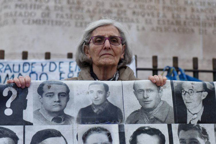 Protest for justice for the missing in Madrid, Spain, 17 Oct 2019.